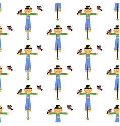 Scarecrow seamless pattern vector