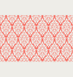 seamless damask pattern rich ornament old vector image