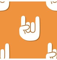 Seamless rock gesture pattern vector image
