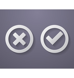 Set of check mark icons vector image