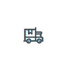 shipping icon line design e commerce icon vector image