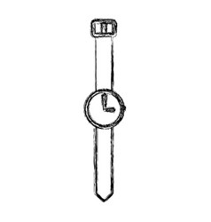 Sketch draw vintage watch vector