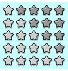 Stone game rating stars icons vector image
