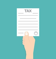 Tax form in hand vector image