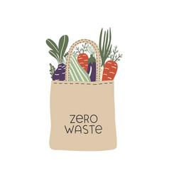 textile eco-friendly reusable shopping bag vector image
