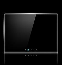 Transparent screen for slide show vector