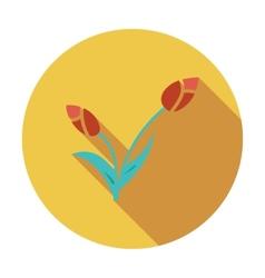 Tulip single icon vector image