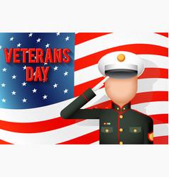 Veterans day american military ceremonial dress vector