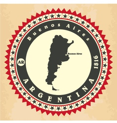 Vintage label-sticker cards of argentina vector