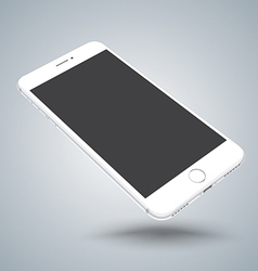 White smartphone mockups like iphon vector
