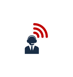 Wifi call center logo icon design vector
