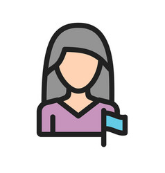Woman in politics vector