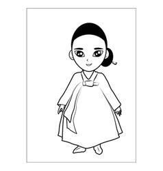Women cartoon vector image