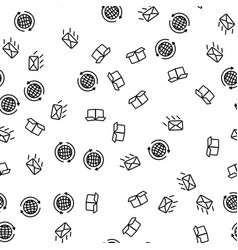 worldwide express delivery seamless pattern vector image