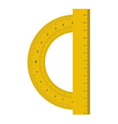 Yellow protractor icon flat style vector