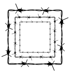 Barbed Wire Silhouette4 vector image