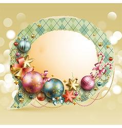 christmas vintage bubble vector image vector image