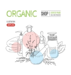 natural organic cosmetic concept vector image