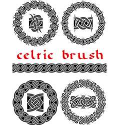 celtic brush vector image vector image