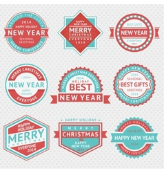 Set badges for Christmas cards vector image vector image