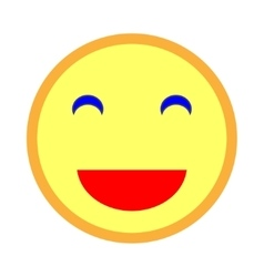 Smiling emoticon with smiling eyes 103 vector image vector image