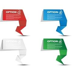 Stickers origami number progressive vector