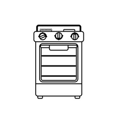 stove household appliance vector image
