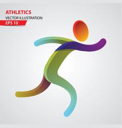 athletics color sport icon design template vector image vector image