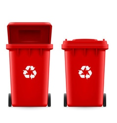 Buckets for trash vector image vector image