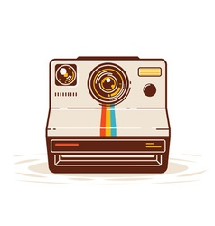 Classic Instant Camera vector image
