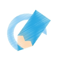drawing blue color paint school vector image
