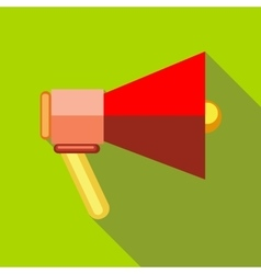 Red loudspeaker icon flat style vector image