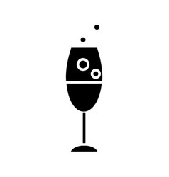wine glass icon black sign vector image vector image