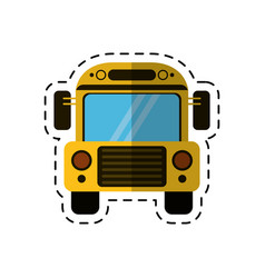 cartoon school bus transport design vector image