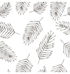 Floral coconut leaves seamless pattern Hand drawn vector image vector image