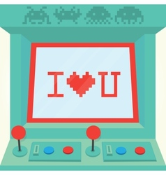 I love you arcade machine isolated vector image vector image