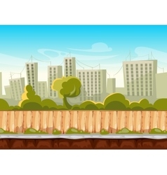Seamless city landscape cityscape vector image