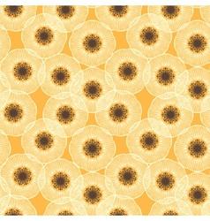 White poppy field 1950s vintage pattern vector