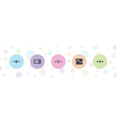 5 electrician icons vector