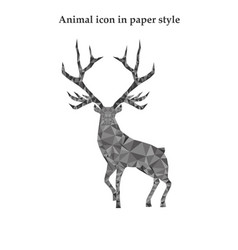 a red deer in paper style vector image