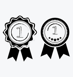 a sign premium class medal with a star and vector image