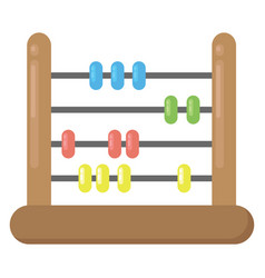 Abacus tool on white background vector