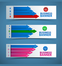 Abstract business banners set vector