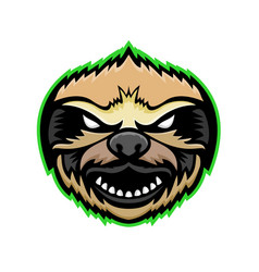 Angry sloth mascot vector