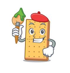 Artist graham cookies character cartoon vector