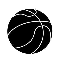 basketball ball sport pictogram vector image