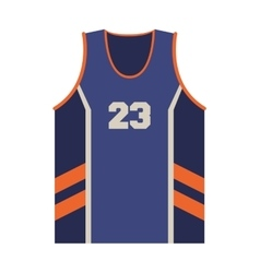 basketball jersey icon vector image vector image