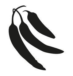 black and white hot chilli pepper silhouette vector image
