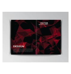 Black template of brochure with abstract particles vector