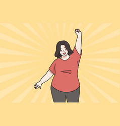 body positive and acceptance concept vector image